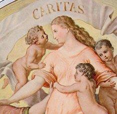 Ausschnitt Schnorr von Carolsfeld - Glaube Liebe Hoffnung